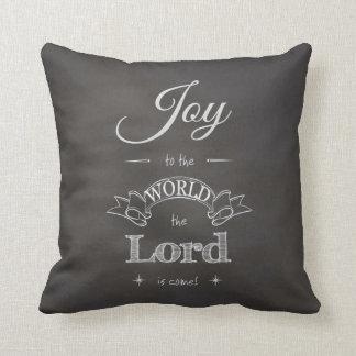 Chalkboard - Joy to the World Cushion