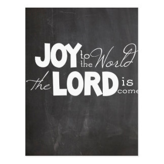 Chalkboard Joy to the World Postcard