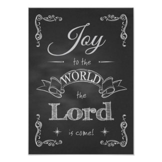 Chalkboard - Joy to the World Poster
