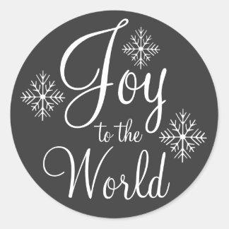 Chalkboard Joy to the World Stickers