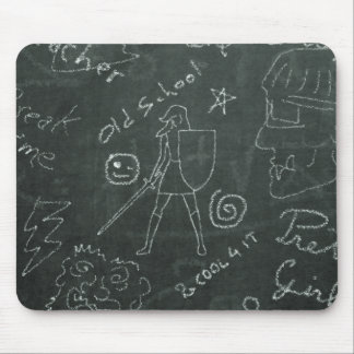 Chalkboard Knight Mousepad