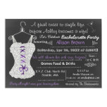 Chalkboard Lace Lingerie Shower Bachelorette Personalized Invitations