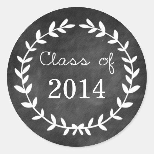 Chalkboard Laurel Graduation Envelope Seal