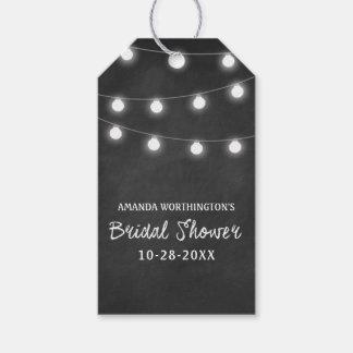 Chalkboard + Lights Bridal Shower Favor Gift Tags