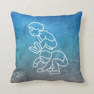 Chalkboard Lip Frog Boys Street-art Doodles Cushion