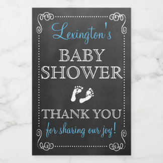 Chalkboard Look Boy Baby Shower Guest Favor Food Label