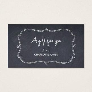 Chalkboard Look Custom Gift Tags
