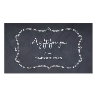 Chalkboard Look Custom Gift Tags Pack Of Standard Business Cards