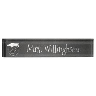 Chalkboard Look Teacher's Custom Desk Nameplate