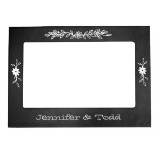 Chalkboard Look Wedding Magnetic Photo Frame
