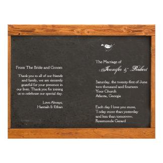 Chalkboard Love Bird Wedding Program 21.5 Cm X 28 Cm Flyer