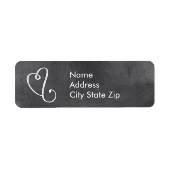 Chalkboard Mailing Address Label