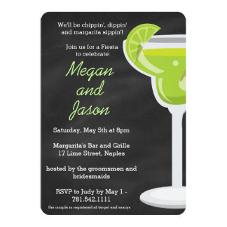 Chalkboard Margarita Party Invitation - Chalk Back