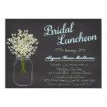 Chalkboard Mason Jar Baby's Breath Bridal Luncheon 11 Cm X 16 Cm Invitation Card