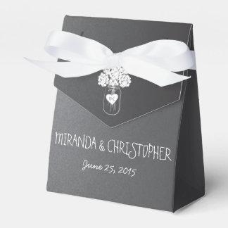 Chalkboard Mason Jar Floral Personalized Favor Box