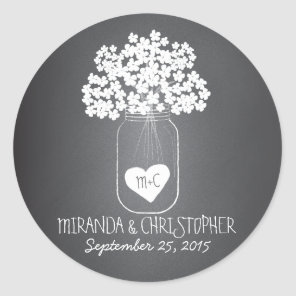 Chalkboard Mason Jar Personalised Favour Stickers
