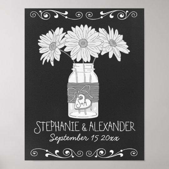 Chalkboard Mason Jar Personalised Poster