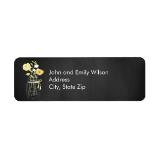 Chalkboard Mason Jar Return Address Labels