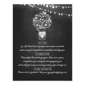 Chalkboard Mason Jar Wedding Information Card 11 Cm X 14 Cm Invitation Card