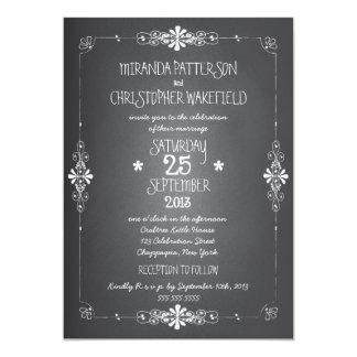 Chalkboard Mason Jar Wedding Invitation with RSVP