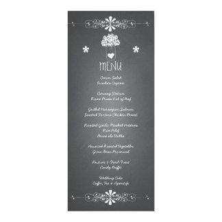 Chalkboard Mason Jar Wedding Reception Menu Card
