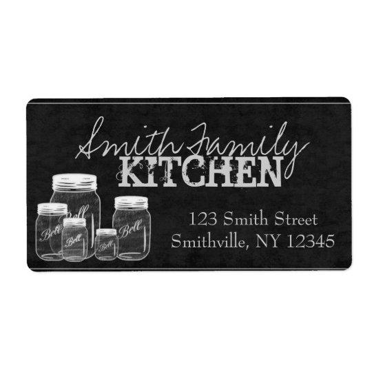 Chalkboard Mason Jars Large Labels
