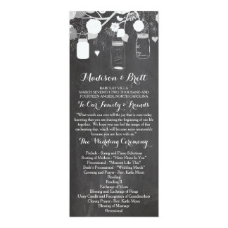 Chalkboard Mason Jars Tea Length Wedding Program 10 Cm X 24 Cm Invitation Card
