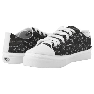 Chalkboard Math Formulas Low Tops