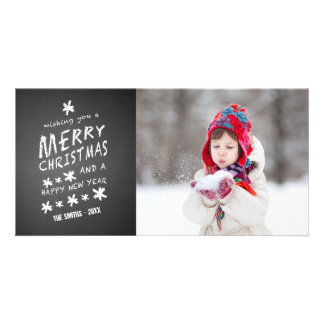 CHALKBOARD MERRY CHRISTMAS | HOLIDAY PHOTO CARD