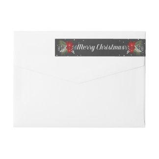 Chalkboard Merry Christmas Return Address Label