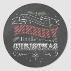 Chalkboard Merry Christmas Round Sticker
