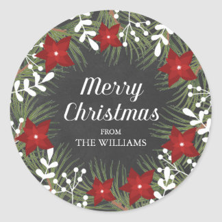 Chalkboard Merry Christmas Sticker