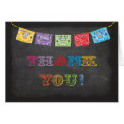 Chalkboard Mexican Fiesta Thank you notes