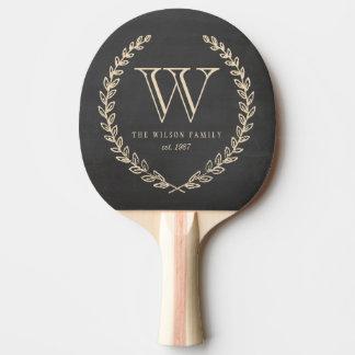 Chalkboard Monogram Ping Pong Paddle