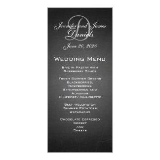 Chalkboard Monogram Wedding Menu Card Customized Rack Card