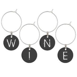 Chalkboard Monogrammed Personalized Wine Charm