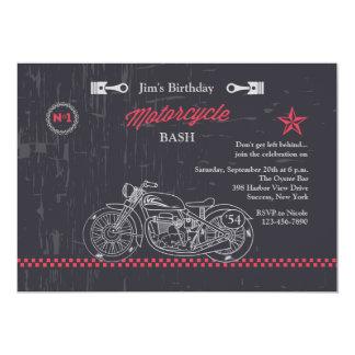 Chalkboard Motorcycle Invitation