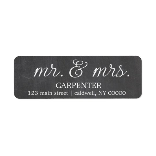Chalkboard Mr. & Mrs. Return Address Labels