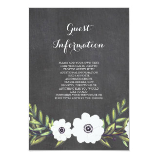 Chalkboard Painted Anemones - information card
