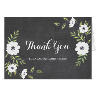 Chalkboard Painted Anemones - thank you note cards