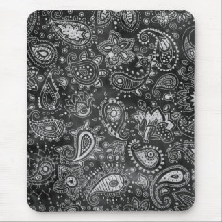 Chalkboard Paisley Mouse Pad