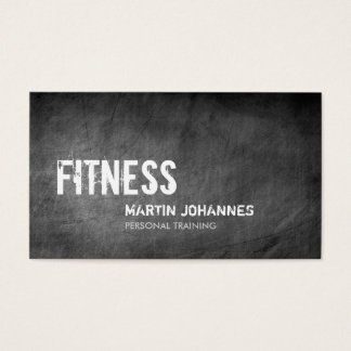 Chalkboard Pattern Personal Trainer Business Card