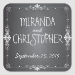 Chalkboard Personalised Favour Stickers