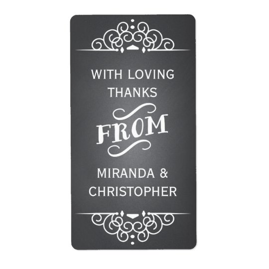 Chalkboard Personalised Thank You Favour Labels