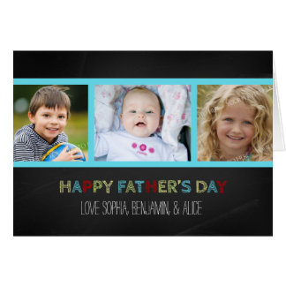 Chalkboard Photo Happy Father's Day Card