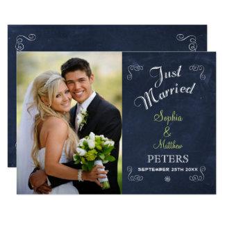 Chalkboard   Photo   Just Married Card
