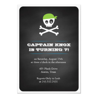 Chalkboard Pirate Card