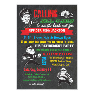Police Officer Retirement Cards Amp Invitations Zazzle Co Uk