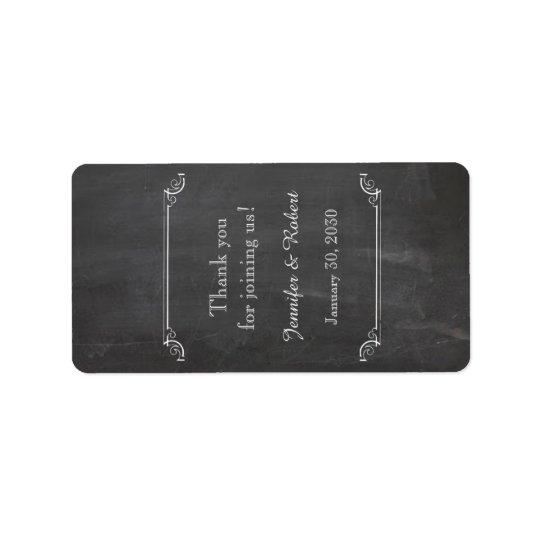 Chalkboard Posh Wedding Lip Balm Label Address Label