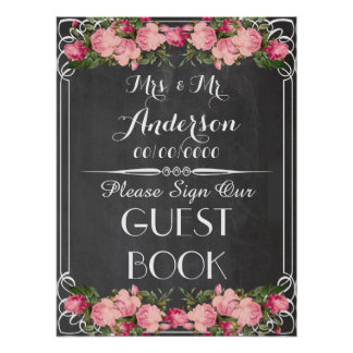 chalkboard poster ,wedding guestbook poster